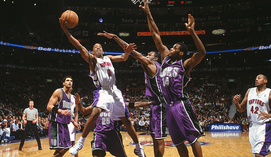 Platz 14: Rafer Alston (Toronto Raptors) - 5 Punkte (0/12 FG), 8 Assists gegen die Milwaukee Bucks in der Saison 2004/05