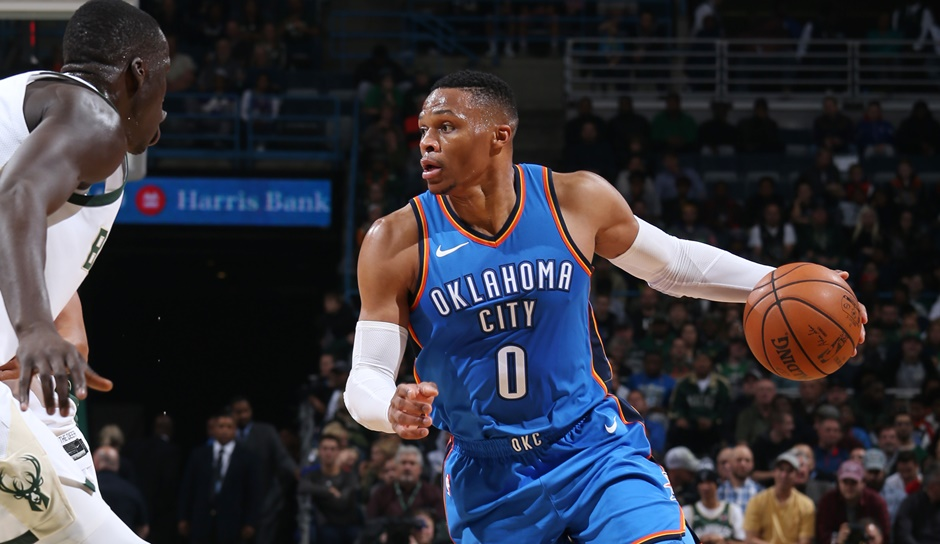 Russell Westbrook (Oklahoma City Thunder): 37,2 Punkte