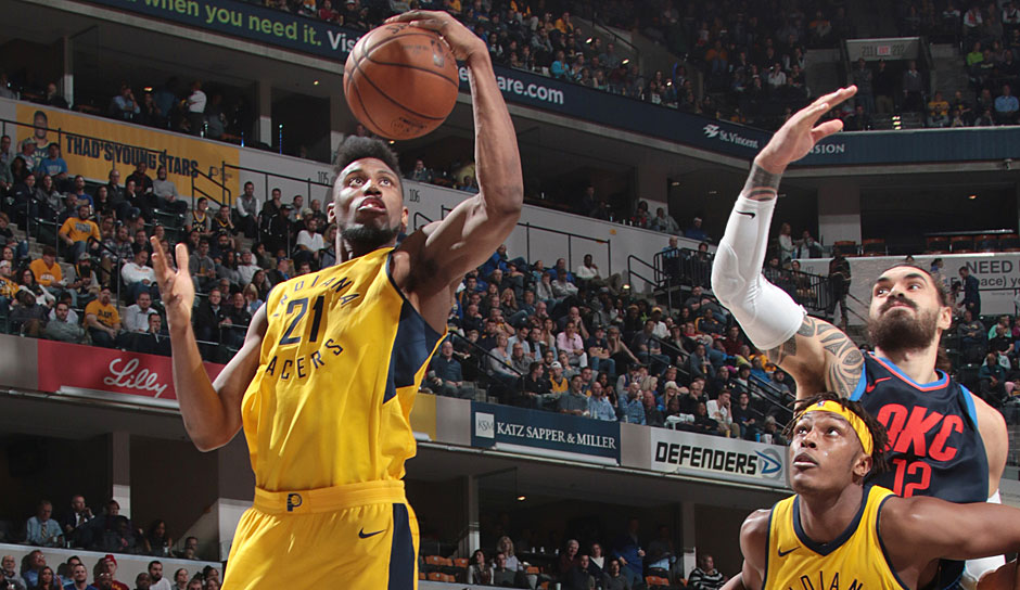 Platz 1: Thaddeus Young (Indiana Pacers) - 7 Steals gegen die Oklahoma City Thunder