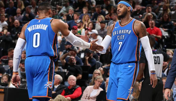 Russell Westbrook und Carmelo Anthony