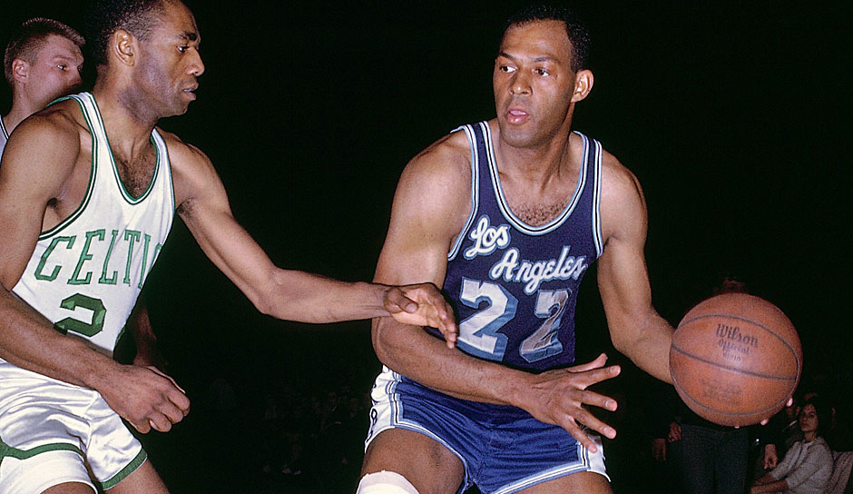 Platz 4: Elgin Baylor. 17-mal in 846 Spielen (Minneapolis/Los Angeles Lakers)