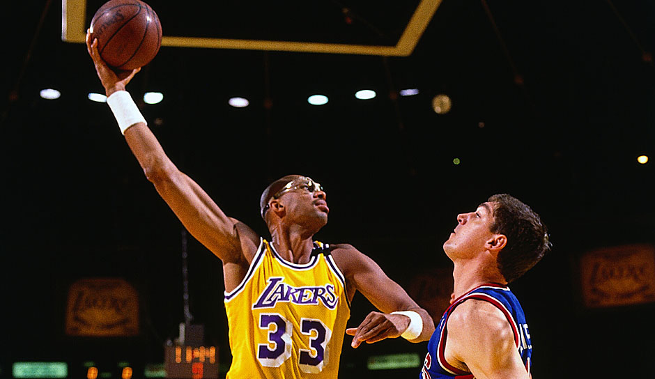 Platz 8: Kareem Abdul-Jabbar. 10-mal in 1560 Spielen (Milwaukee Bucks, Los Angeles Lakers)
