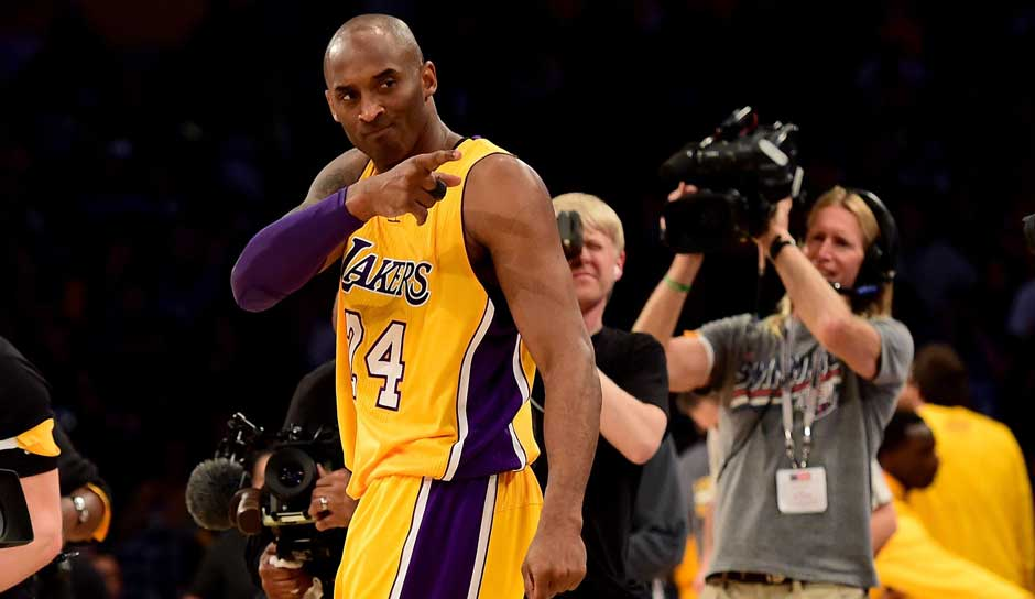 Platz 3: Kobe Bryant. 25-mal in 1346 Spielen (Los Angeles Lakers)