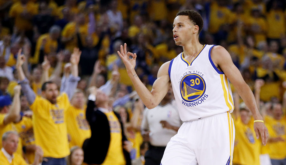Platz 15: Stephen Curry. 5-mal in 597 Spielen (Golden State Warriors)