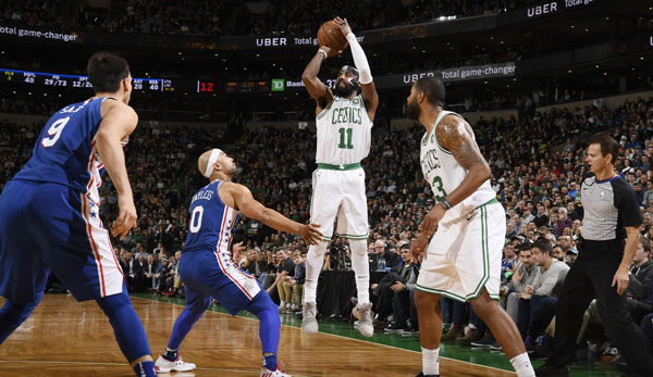 Kyrie Irving spielt mit den Celtics in London