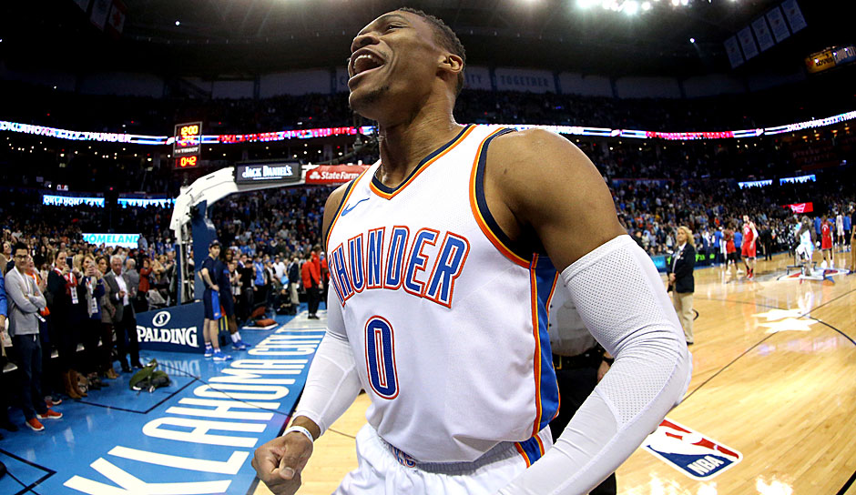 Russell Westbrook (OKC Thunder): 44,2 Punkte