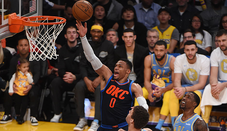 Russell Westbrook (Oklahoma City Thunder) - 44,5 Punkte