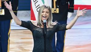 Fergie von den Black Eyed Peas sang die Nationalhymne beim All-Star Game 2018