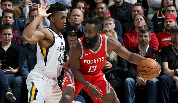James Harden war in Utah der Topscorer der Houston Rockets