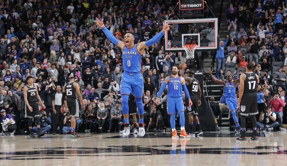 Russell Westbrook (OKC Thunder): 41,5 Punkte