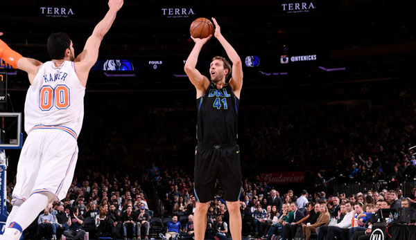 Dirk Nowitzki gewann mit den Mavericks in New York.