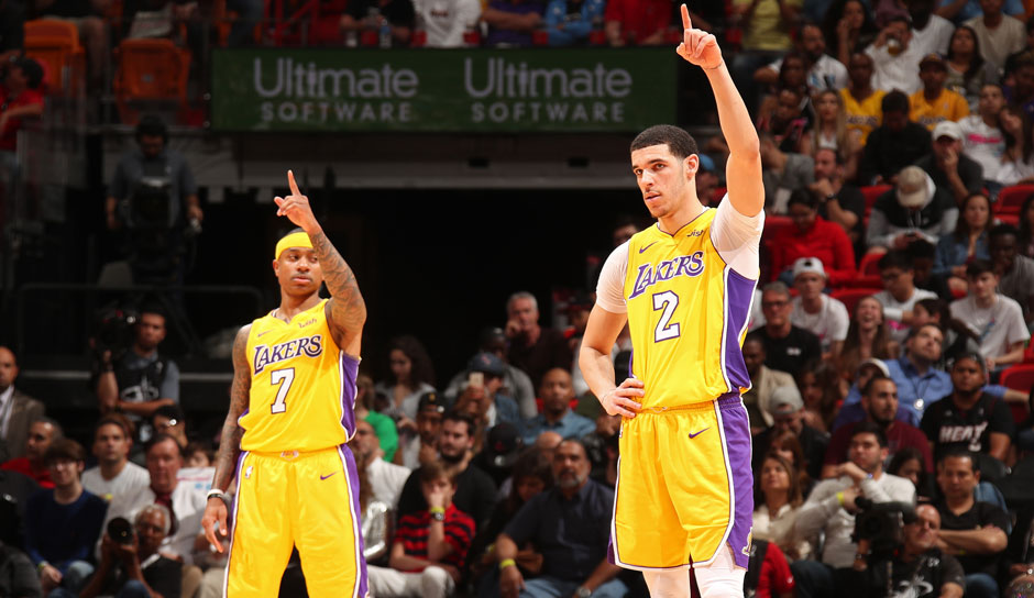 Lonzo Ball (Los Angeles Lakers): 46 Punkte