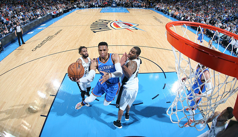 Russell Westbrook (OKC Thunder): 44,2 Punkte.