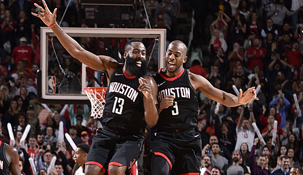 James Harden und Chris Paul sind die Stars der Houston Rockets