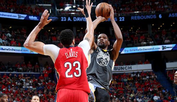 NBA-Playoffs: Durant führt Warriors zum Sieg in New Orleans