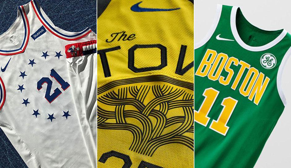 huge discount 5b9a6 c68a8 NBA - Die neuen Earned-Edition-Jerseys der Playoff-Teams ...
