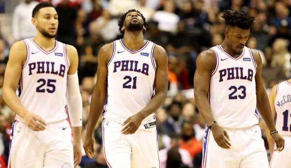 Jimmy Butler, Ben Simmons und Joel Embiid bilden die Big Three der Sixers.
