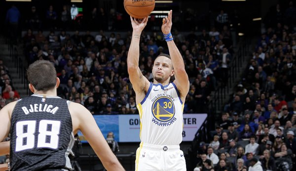Warriors-Guard Stephen Curry versenkte gegen die Sacramento Kings zehn Dreier