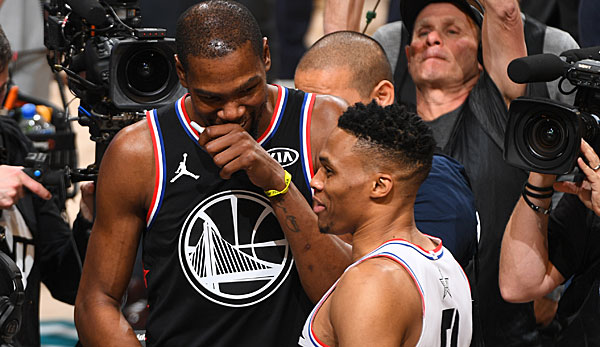 Kevin Durant hat Russell Westbrook gelobt.