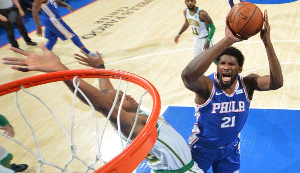 NBA Spielbericht: Nächste Embiid-Show! Sixers schlagen Boston in hitzigem Schlagabtausch