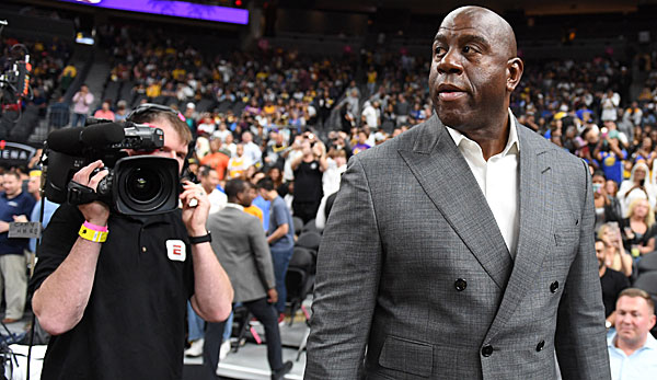 Magic Johnson übernahm im Jahr 2017 den Posten als President of Basketball Operations bei den Lakers.