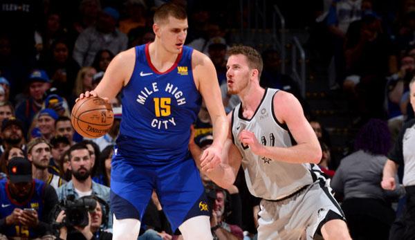 NBA Playoffs: Die Denver Nuggets sichern sich Matchball gegen die San Antonio Spurs