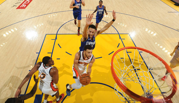 Stephen Curry sicherte sich mit den Golden State Warriors erneut Platz 1 im Westen.