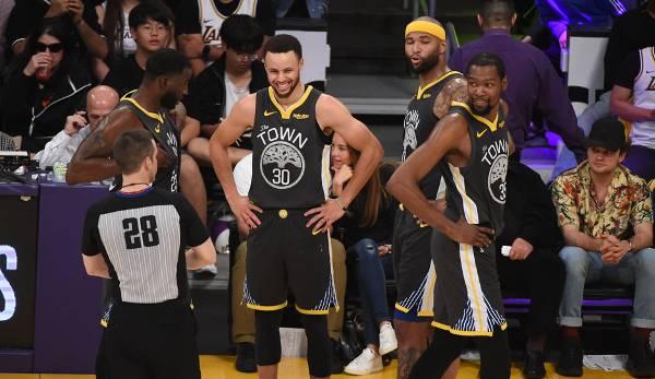 Diashow: NBA - Wer stoppt den Threepeat der Warriors? Die Meister-Quoten aller Teams in Las Vegas