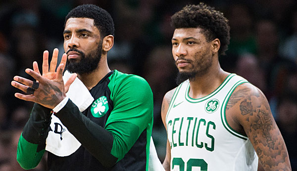 Kyrie Irving und Marcus Smart bildeten den Backcourt bei den Boston Celtics.