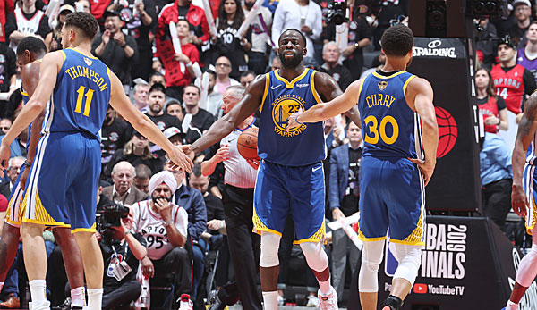 Die Golden State Warriors um Draymond Green, Stephen Curry und Klay Thompson scheiterten in den NBA Finals an den Raptors.