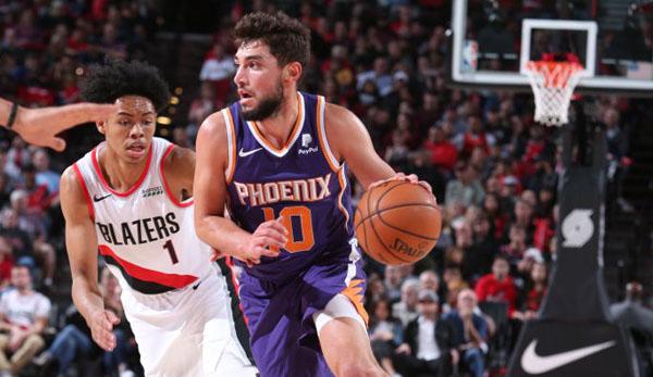 NBA Preseason: 24 Dreier - Phoenix Suns schießen Portland Trail Blazers mit Feuerwerk ab