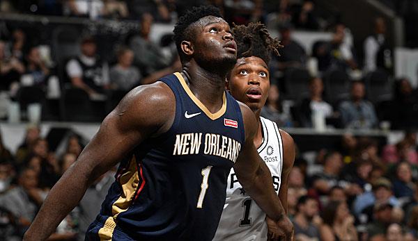 NBA-News: Zion Williamson am Knie verletzt - Sorge um Nr.1-Pick der New Orleans Pelicans