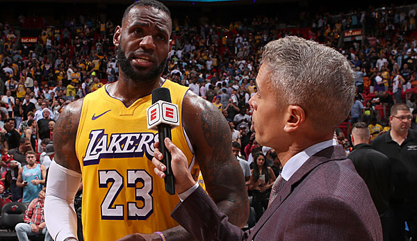 "NBA, Lakers - LeBron James nach schwacher erster Halbzeit gegen Miami Heat: ""Lagen wegen mir hinten"""