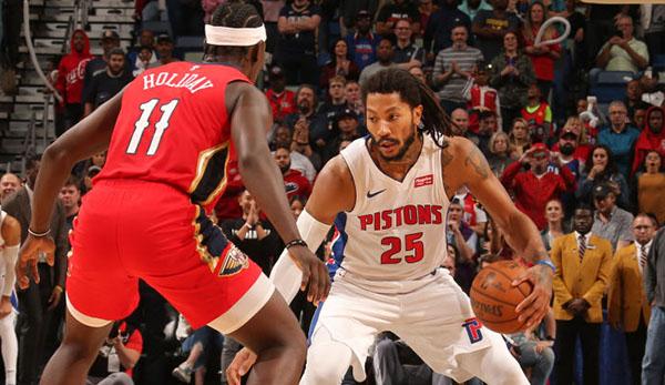 NBA: Derrick Rose sorgt mit Game-Winner und 17 Punkten im letzten Viertel für Pistons-Sieg bei den Pelicans