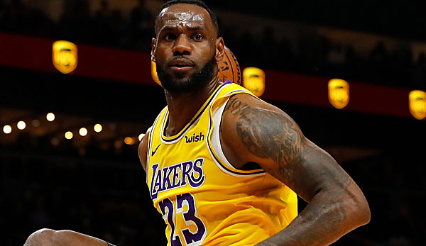 LeBron James erzielte in Atlanta 32 Punkte.