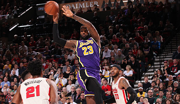 LeBron James verteilte gegen Portland 16 Assists.