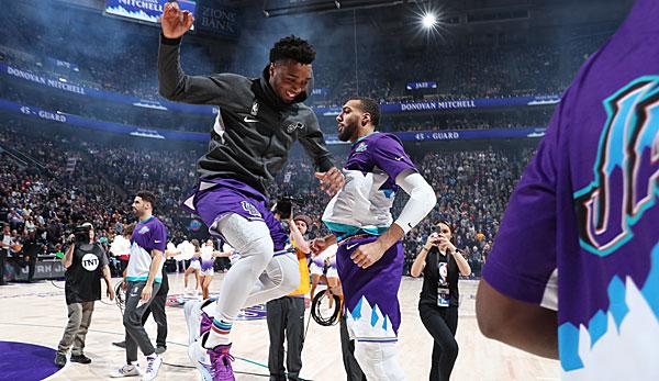Donovan Mitchell und die Utah Jazz haben nach neun Siegen in Folge Grund zum Feiern.