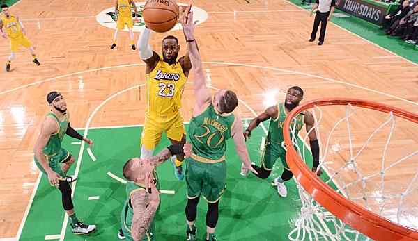 NBA: Los Angeles Lakers kommen in Boston unter die Räder - Celtics demontieren LeBron James und Co.
