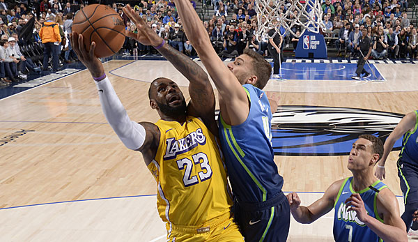 NBA: Los Angeles Lakers um überragenden LeBron James überrollen desolate Dallas Mavericks