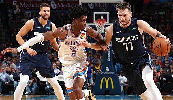 NBA: Luka Doncic führt Dallas Mavericks zu Sieg gegen Oklahoma City Thunder um Dennis Schröder