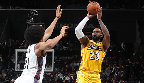 LeBron James verbuchte bei den Brooklyn Nets ein Triple-Double.