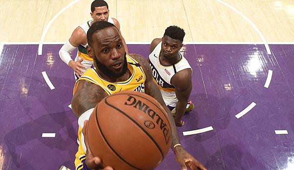 NBA: LeBron James stellt für Los Angeles Lakers Saisonbestwert auf und gewinnt erstes Duell mit Zion Williamson