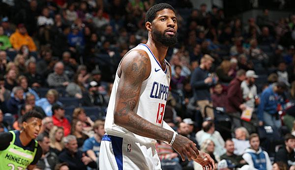NBA-News: Paul George von den L.A. Clippers verletzt sich erneut am Oberschenkel