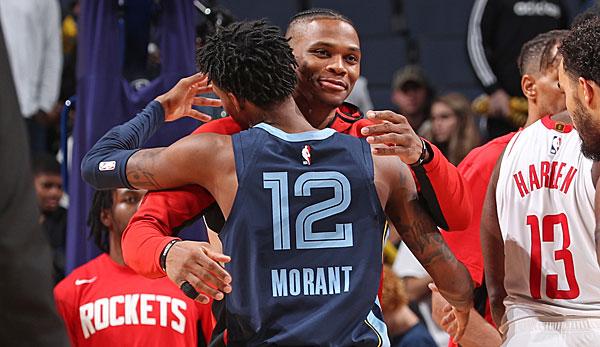 NBA-News - Ja Morant steht hinter Rockets-Guard Russell Westbrook: Er wird immer noch nicht respektiert