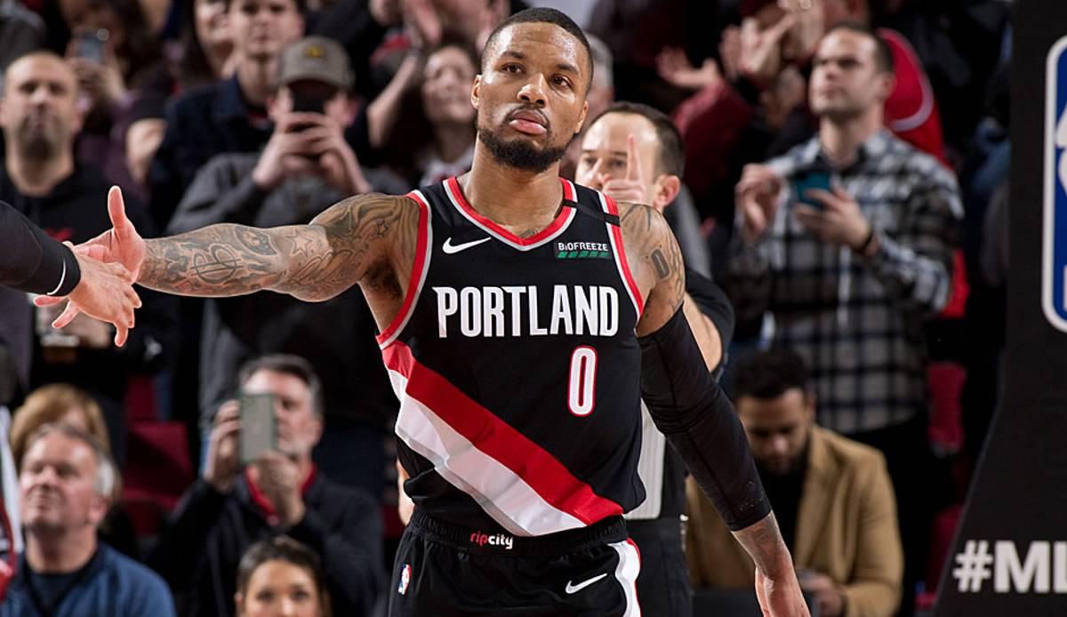 NBA-News: Damian Lillard von den Portland Trail Blazers droht, die Saison nicht zu beenden