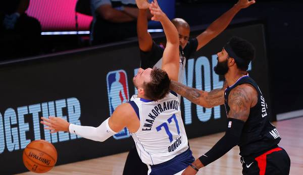 Clippers-Forward Marcus Morris foulte Mavs-Star Luka Doncic hart in Spiel 6.