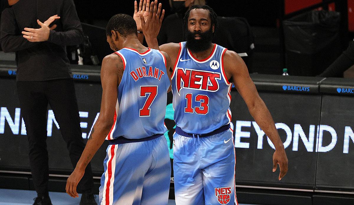 NBA: James Harden schreibt mit Triple-Double bei Nets-Debüt Geschichte - auch Kevin Durant überragt gegen Magic