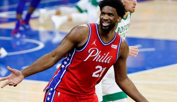 Joel Embiid war der Topscorer der Philadelphia 76ers in Boston.
