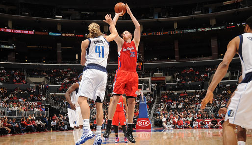 Deutsches Duell im Staples Center: Chris Kaman vs. Dirk Nowitzki