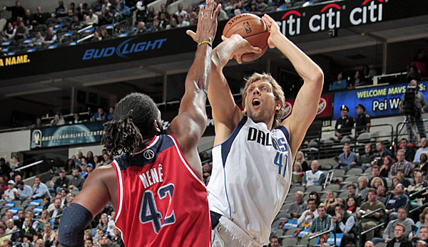 Dirk Nowitzki überholte gegen die Wizards Lakers-Legende Jerry West in der All-Time-Scoring-List